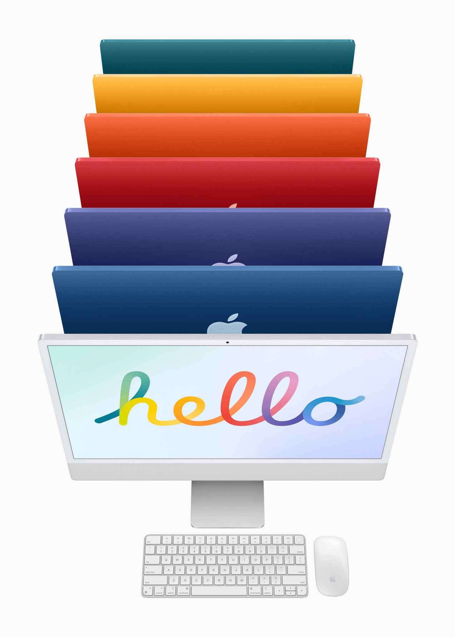 apple new imac spring21 color lineup 04202021