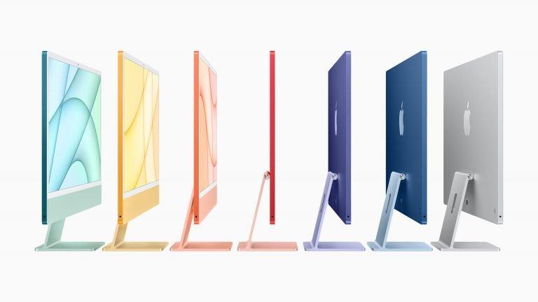 Neuer 24″ iMac: Bunt, nur zwei Ports, weiße Front, Touch ID