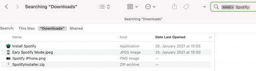 macOS Spotlight Suche