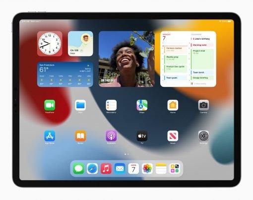 Apple iPadPro iPadOS15 springboard widgets 060721