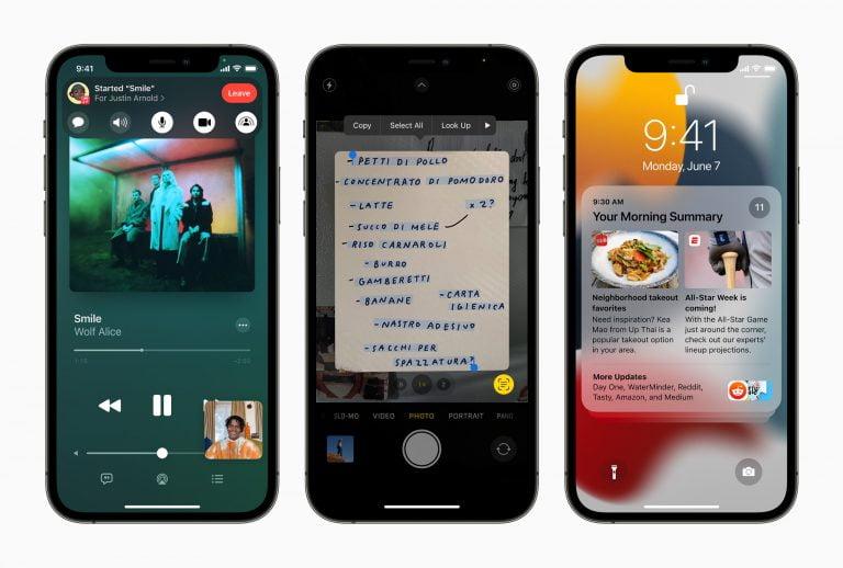 iOS und iPadOS 15