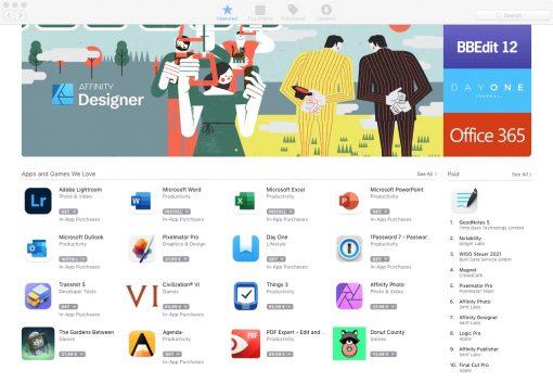 High Sierra App Store normal
