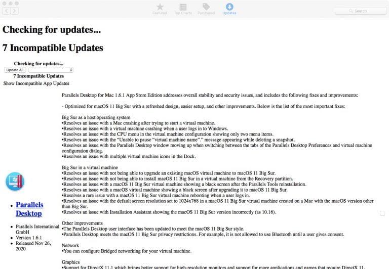 App Store Update Seite sieht komisch aus – 10.13 High Sierra