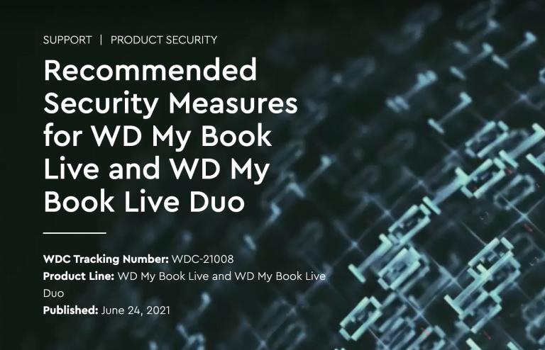 Warnung: WD My Book Live, WD My Book Live Duo vom Netz nehmen!