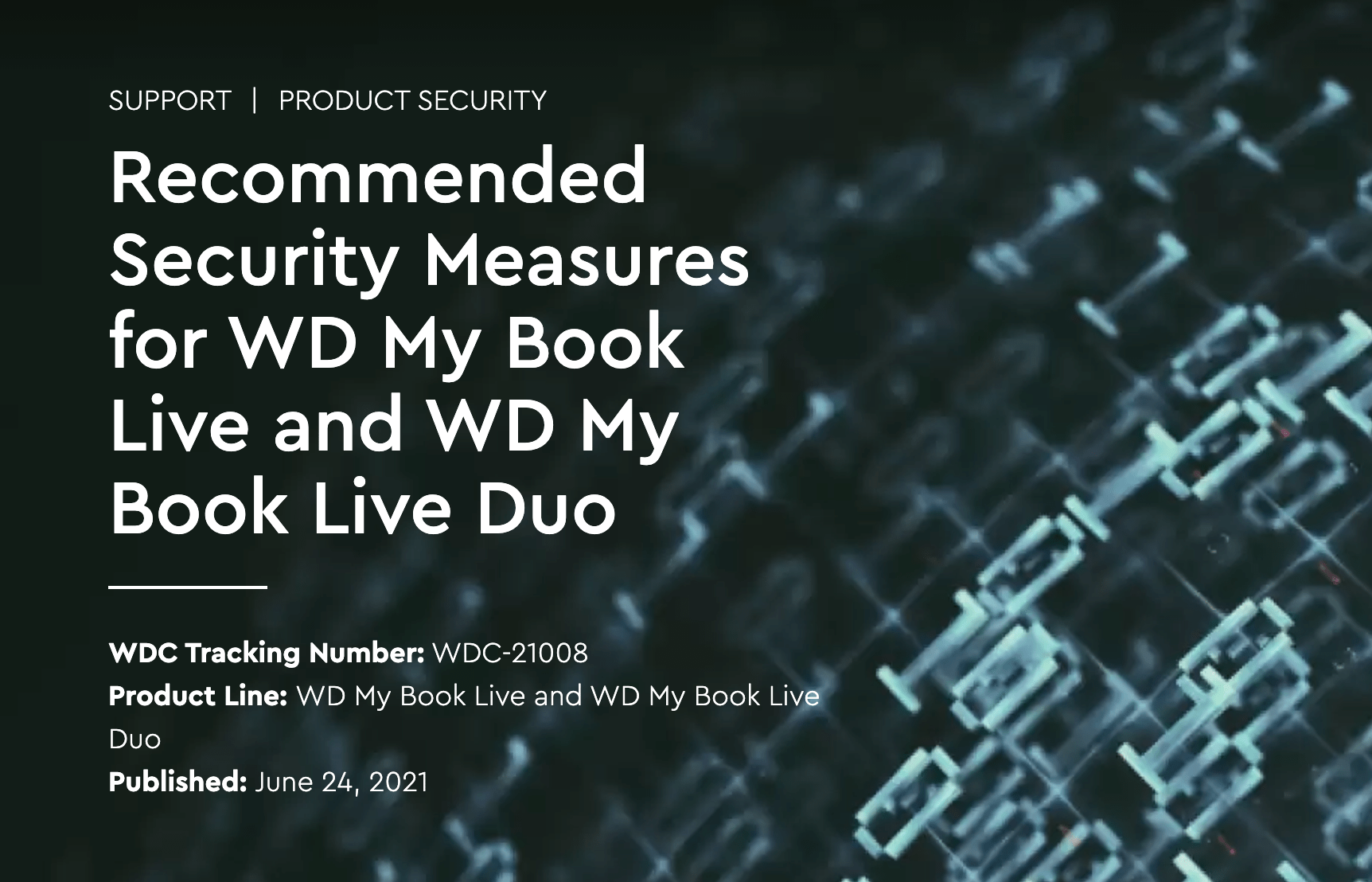 WD My Book Live Security