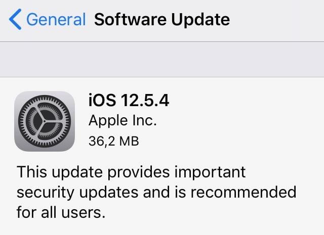 iOS 12.5.4 bekommt wichtige Sicherheitsupdates