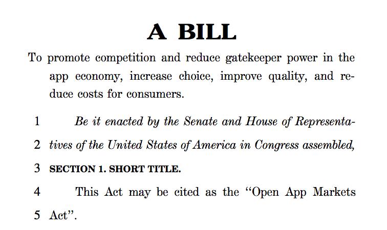 US Senatoren stellen Gesetzesvorschlag für alternative App Stores vor