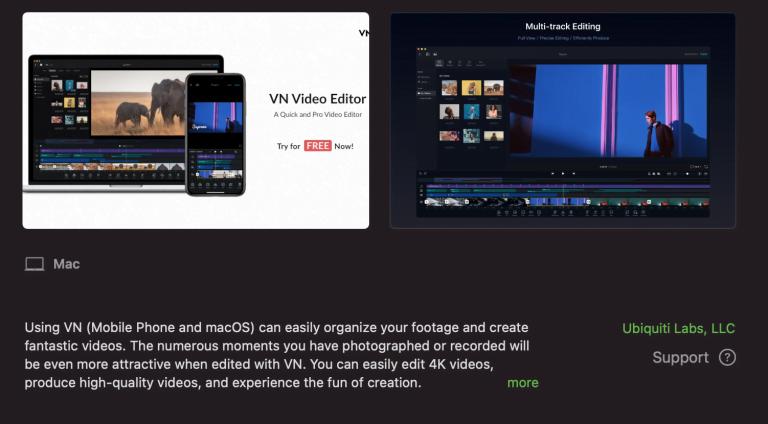 iMovie Alternative von Ubiquiti: Videoschnitt Software VN