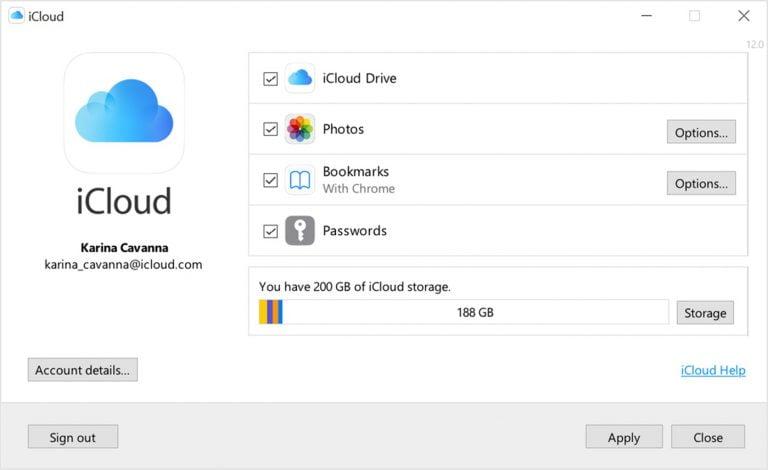 iCloud 12.5 für Windows jetzt mit Passwort Funktion