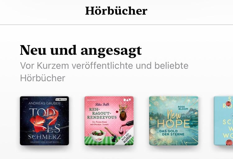 Apple entfernt alle Hörbücher aus Apple Music