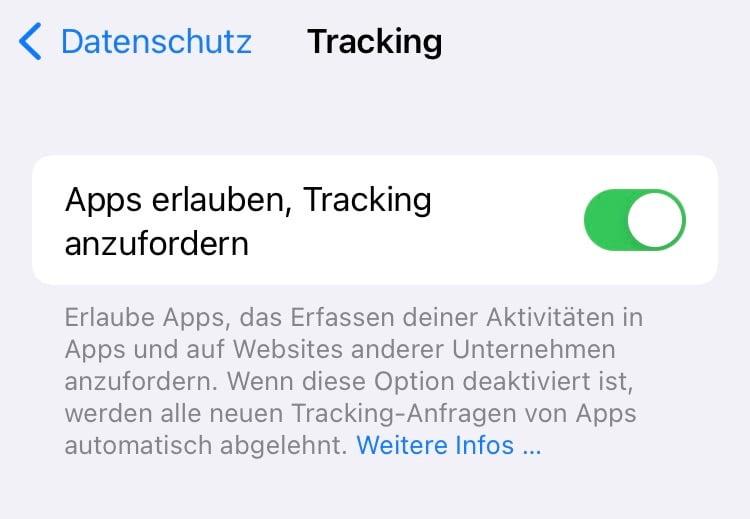 iOS App Tracking Ablehnung bewirkt – nahezu nichts